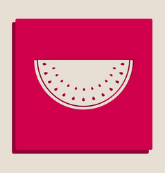 watermelon sign grayscale version of vector image vector image