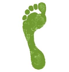 Man footprint vector image