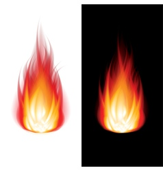 object fire icon black white vector image