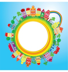 Small colourful town vector image