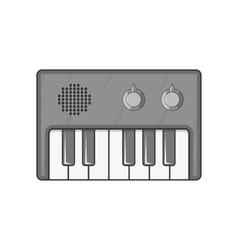 Synth icon black monochrome style vector image vector image