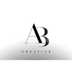 Ab letter design logo logotype icon concept vector