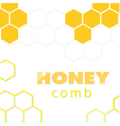 abstract white yellow honeycomb background vector image