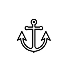 anchor icon flat on white background vector image