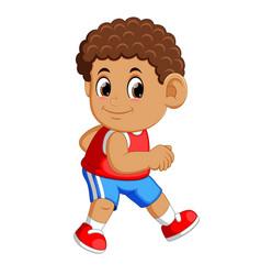 Athlete running man vector