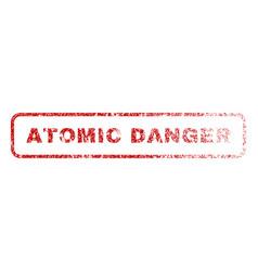 Atomic danger rubber stamp vector