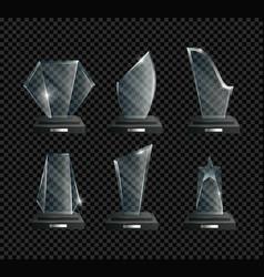 awards realistic set success vector image