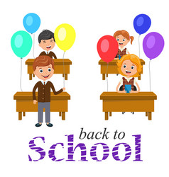 banner or poster welcome back to school text vector image