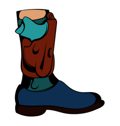 boot icon cartoon vector image