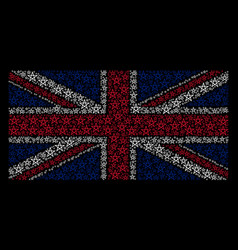 British flag pattern of star pentagram icons vector