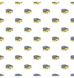 Bus pattern cartoon style vector