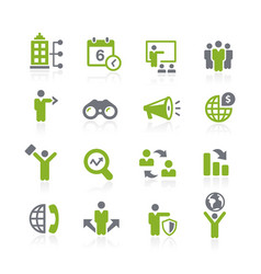 business opportunities icons natura series vector image
