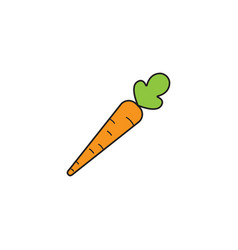 Carrot solid line icon healthy fruit vector