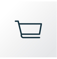 cart icon line symbol premium quality isolated vector image