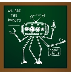 Chalk draw robot vector