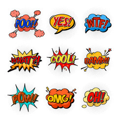 Comic speech bubbles for questions and explosion vector