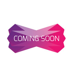 coming soon web banner low poly vector image