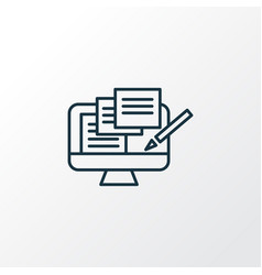 Copywriting icon line symbol premium quality vector