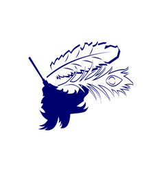 dust feather logo design template vector image