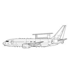 E-7a wedgetail vector
