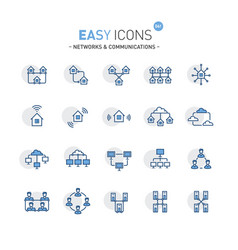 Easy icons 06f networks vector