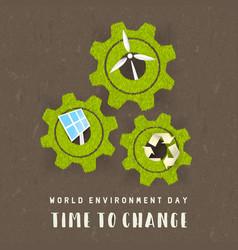 environment day card green energy concept vector image