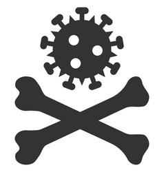 Flat mortal virus icon vector