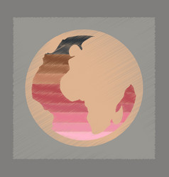 Flat shading style icon earth gays symbol vector