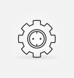 gear with socket concept icon in thin line vector image