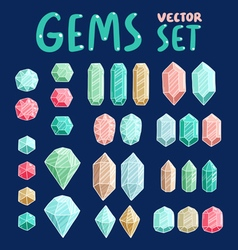 Gemstones collection vector image