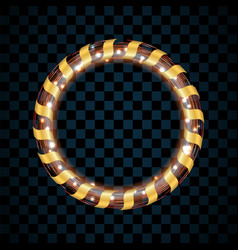 gold and red circle isolated on transparent black vector image