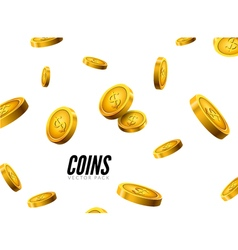 Gold coins falling Coin icons realistic design vector