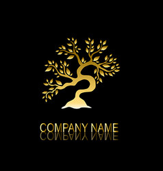 golden tree symbol vector image