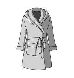 Green lady s gown after bath home clothes for vector