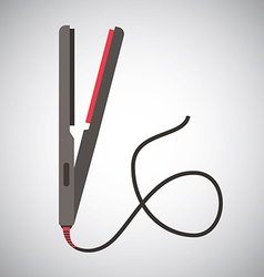 Hair iron design vector