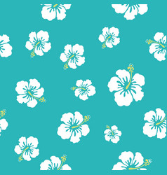 hawaii flowers texture make your pattern vector image