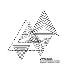 hipster triangle background vector image