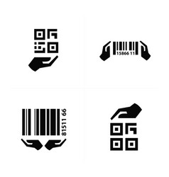 Icon hand and barcode design vector