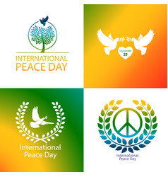 international day peace poster vector image
