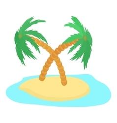 Island icon cartoon style vector image