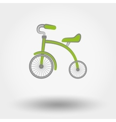 Kids Tricycle flat icon vector