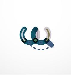 Line letter design vector image