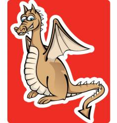 little dragon vector image