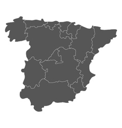map of spain with regions vector image