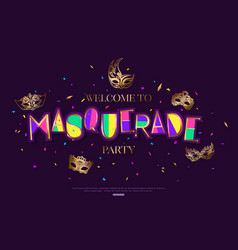 masquerade in brazil bright background decorated vector image