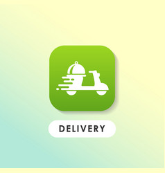 Modern food order delivery icon design vector