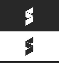 modern s letter logo 3d ribbon isometric broken vector image