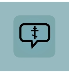 Pale blue orthodox cross message vector image