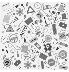 Pattern car style pattern vector image