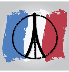 peace for paris 3 vector image
